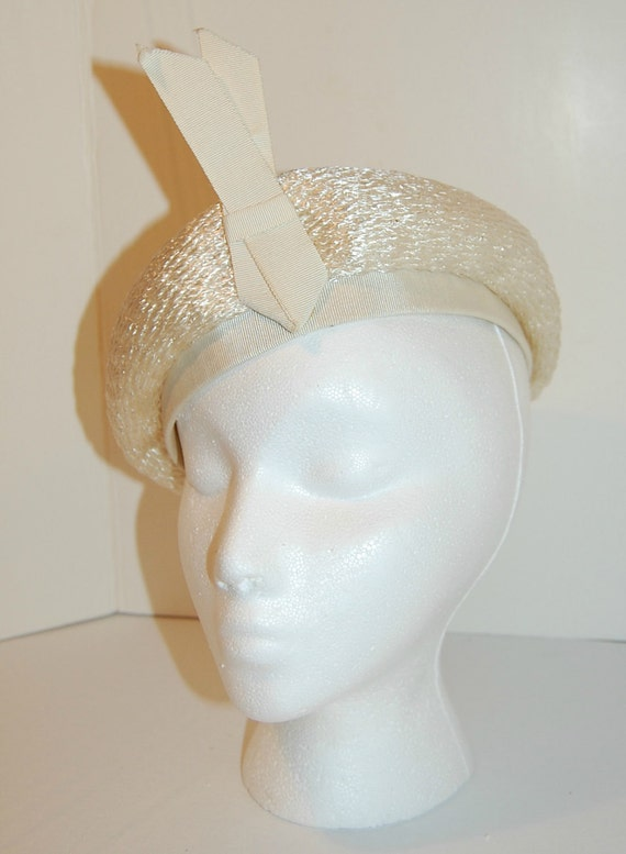 Vintage 50s Tam with Raised Ribbon Detail