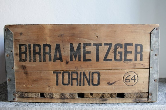 WOOD CRATE BOX // Birra Metzger // Primitive Storage