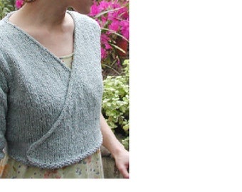 Ballet shrug, ballet warm up, ballet wrap, wrapover cardigan, hand knit shrug...