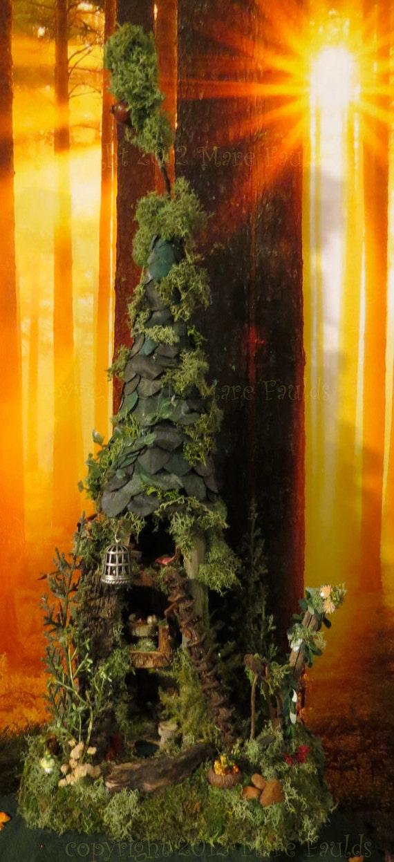 Fairy House Fairy Tree House Miniature By Woodlandfairyvillage