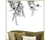 Vinyl Tree Branches with Birds Wall Decals BT-105