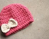 CUSTOMIZABLE Kids Crochet Bow Beanie
