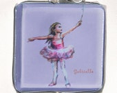Ballet - Personalized Little Ballerina Number 2 - art pendant wire wrapped  - Girls Name Necklace