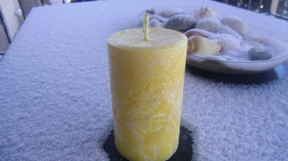 Sale, Small Round Pillar, Aloha,  Hand Poured Pillar Candle, Shaped Candle, Ready to Ship
