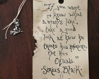 The Sock parchment bookmark