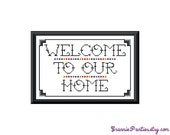 PDF PATTERN ONLY - Welcome to our home - rainbow - counted cross stitch sampler 8x10