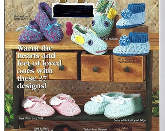 Big Book of Slippers  Crochet Pattern Book   House of White Birches 101075