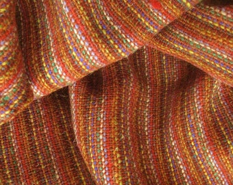 Hand Woven Hand Spun Pure Wool Fabric Yardage
