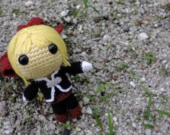 PATTERN: Edward Elric (Fullmetal Alchemist) - Amigurumi crochet pattern (PDF File)