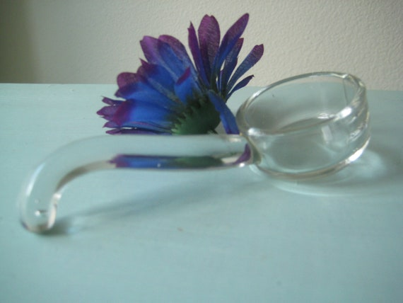 Glass Vintage Mid Century Spoon for Mayo or Other Retro Condiment Spoon Collection Piece