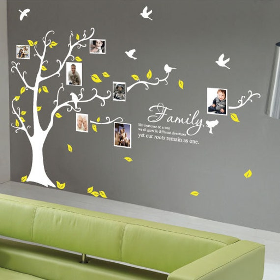 Family tree birds wall quotes wall stickers by stickerlove2 - Stickers arbre genealogique ...