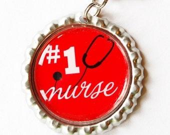 Nurse charm, Nurse Zipper charm, zipper pull, purse charm, Gift for Nurse, Red, Nursing, Nurses week (1572)