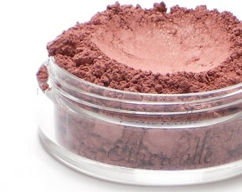 "Vegan Berry Pink Blush - ""Forbidden"" muted berry pink with shimmer (vegan)"