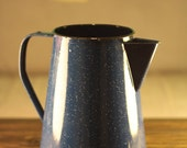 Rustic Blue Enamel Speckled Pitcher