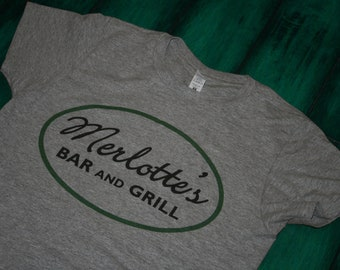 Merlotte's Bar and Grill True Blood T-Shirt in White or Grey