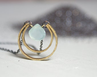 Chrysoprase Moondrop necklace