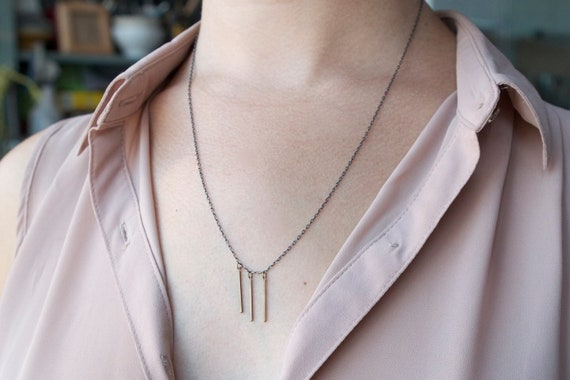 the Triple Bar necklace