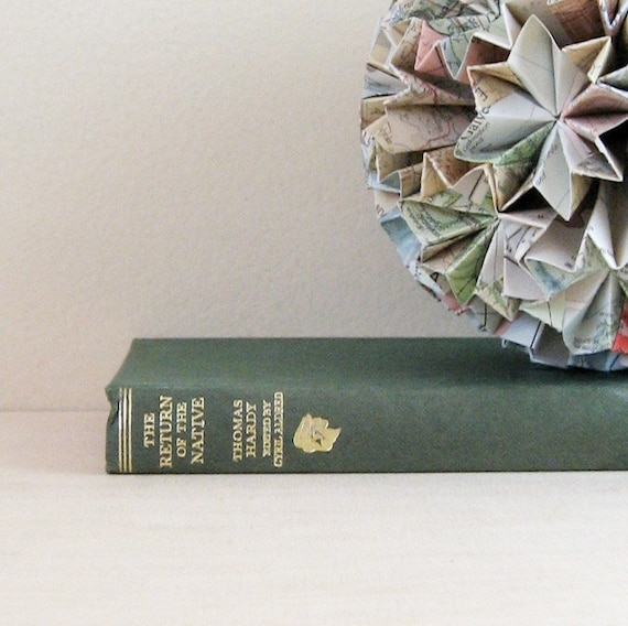 The Return of the Native - Thomas Hardy - 1960s Vintage Book Green Hardcover Scholars Library Victorian Era Romance Novel Tragic Love Story