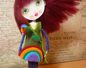 "Emma - Rainbow Child Blessing Doll - ""Custom Personalized Greeting Included"" - Healing Art Doll - OOAK -"