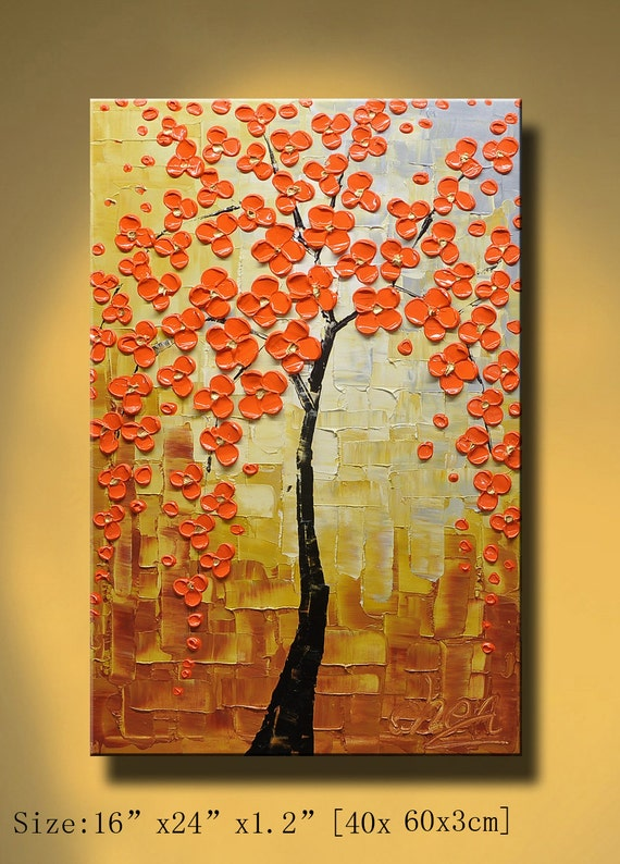 Original Abstract Painting, Modern Textured Painting,  Palette Knife, Home Decor, Painting Oil on Canvas  by Chen 0191