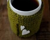 acid green wool mug cover
