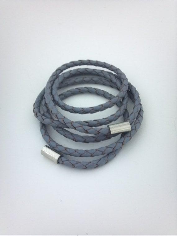 UNISEX Boho Braided Genuine Leather Cord Friendship Wrap Bracelet