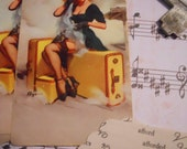 Vintage Pin Up Playing Cards for Assemblage, Altered Journals, Etc...