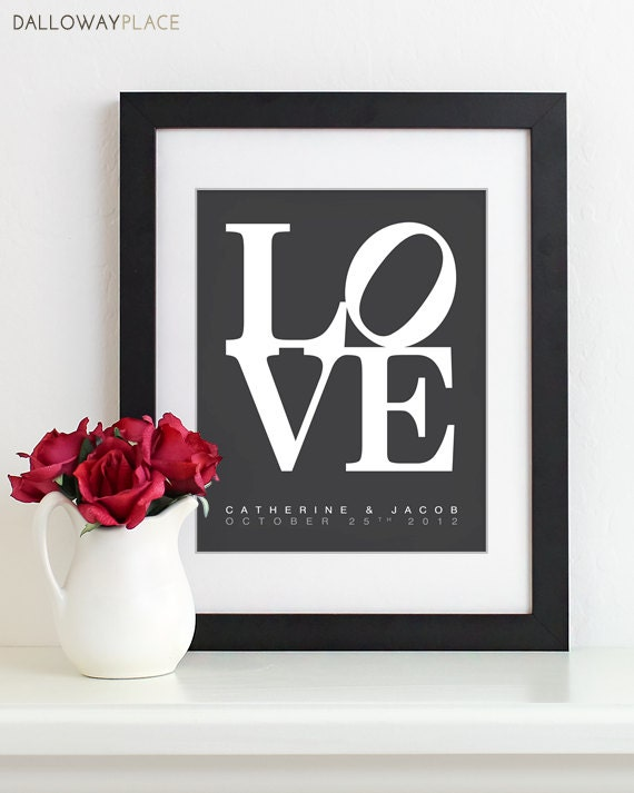 Valentines Day Gift Wedding 1st Anniversary Gift By