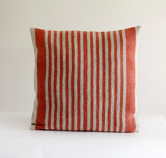 French farmhouse decor pillow cover - throw pillows - cushion case - red throws - 16x16 0292