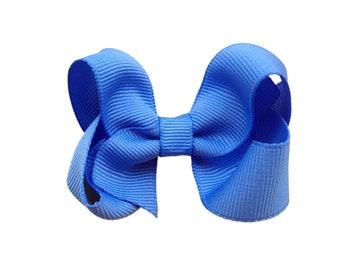 3 inch carolina blue boutique bow - light blue hair bow