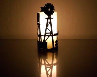 Windmill -1059- Metal Candle Holder Luminary