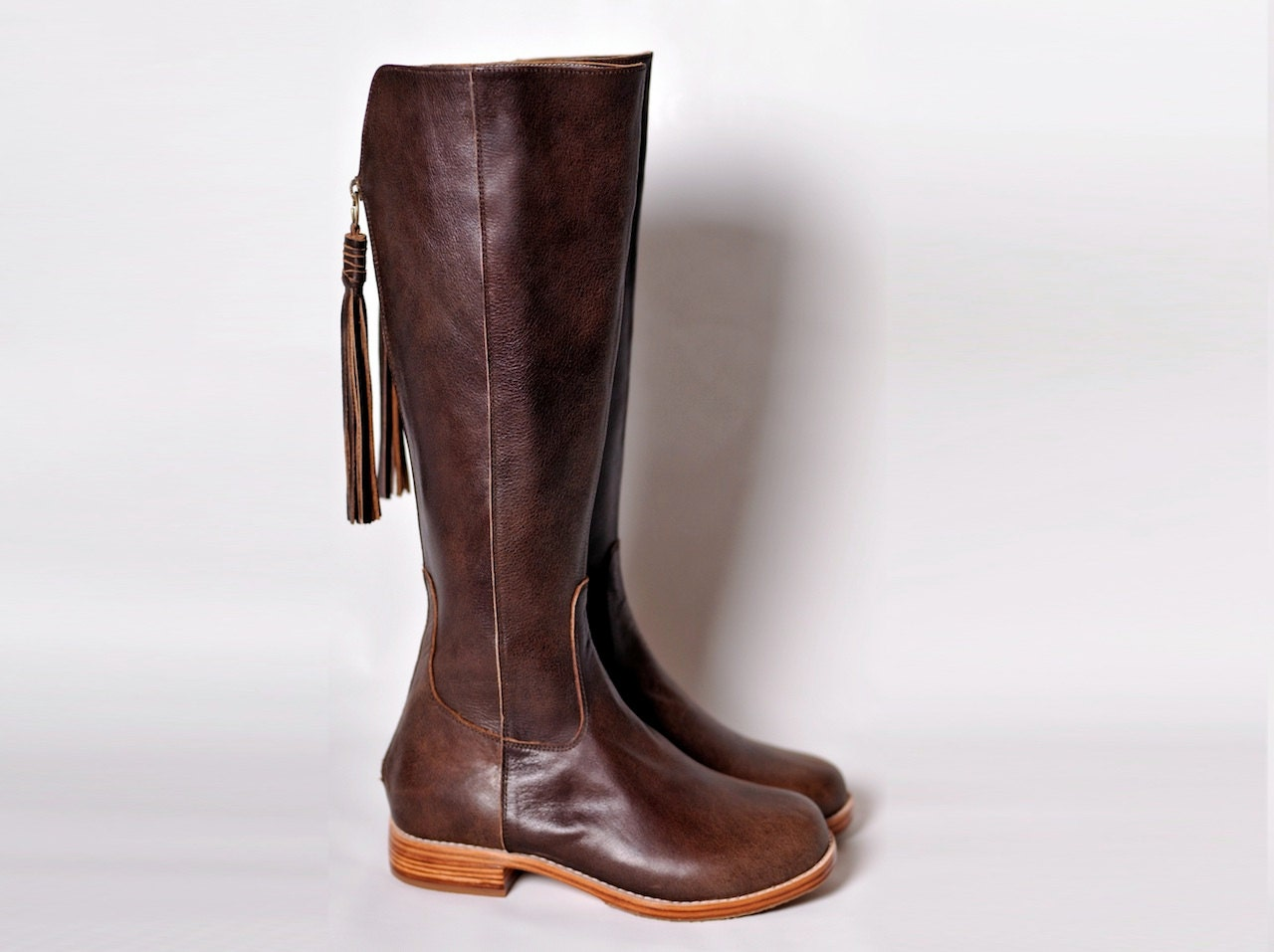 Innovative Light Brown Leather Riding Boots  Shoes Mod