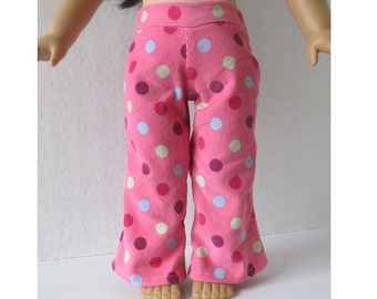 Pink Dotted Corduroy Pants for American Girl 18 Inch Doll