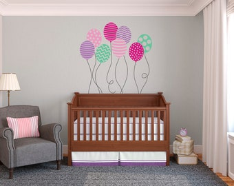 Patterned Balloons - Wall Decal Custom Vinyl Art Stickers