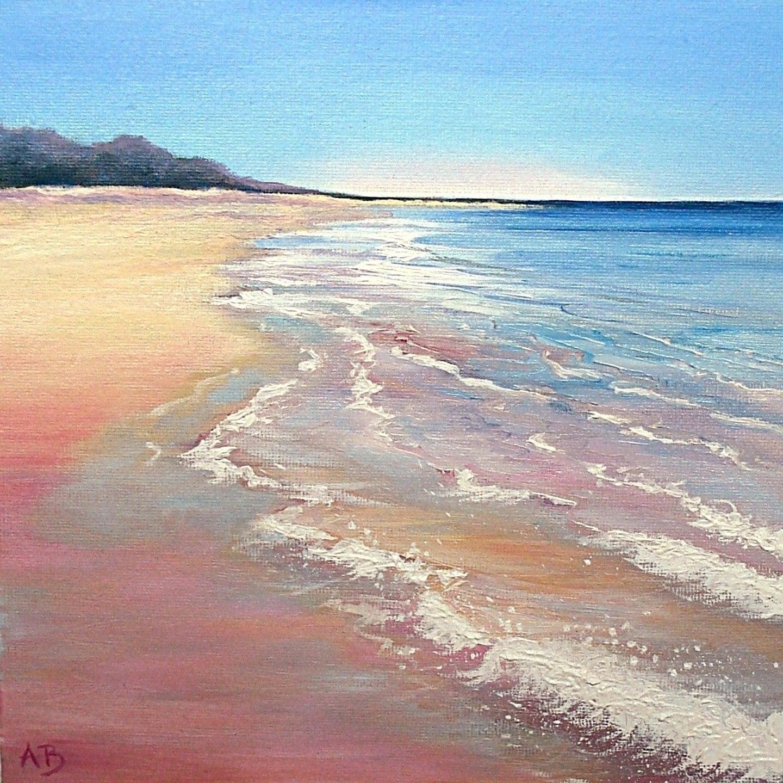 Island Beach Scenes: Scottish Landscape Beach Scene. Waves Rolling By