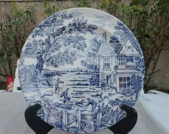 Plates representing hunters