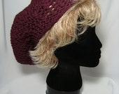 Hand Knitted - Loom Knitted - Womens Beret