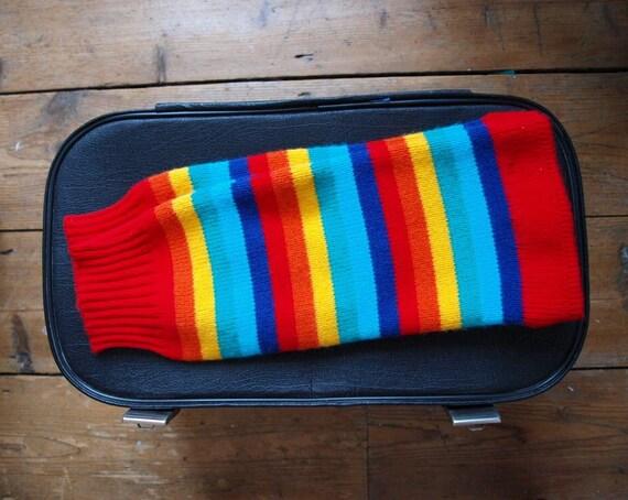 Fab 80's leg warmers. Retro kitsch. Multi coloured. Stripey leg warmers.