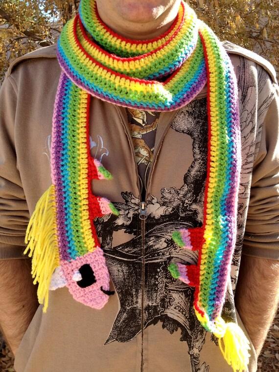 Adventure Time Lady Rainicorn Handmade Crochet Scarf  (Over ten feet long)