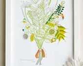 """8 x 10, limited edition art print 9/50, """"Boonville bouquet"""""""