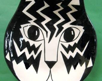 CAT BOWL geo ear bowl handmade Cats By Nina original