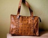 Vintage leather bag. Maxi bag. Brown bag, Made in Germany.