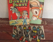 Childrens Party Game, Mid Century Pin the Tail on the Donkey