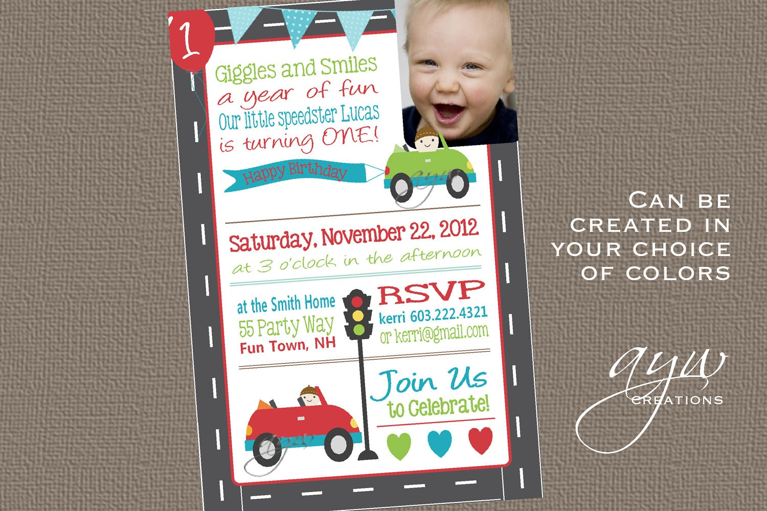 cars 1st birthday invitation first birthday cars invitation 🔎zoom