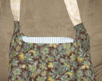 Contemporary Brown & Teal HOBO Bag