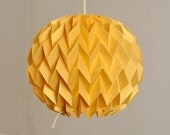 BUBBLE: Origami Paper Lamp Shade - GOLD YELLOW / FiberStore by Fiber Lab