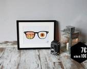 """Poster """"Glasses & Monoyer"""""""