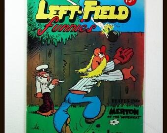 Left Field Funnies Apex Novelties Comic Book 1972 Mature Content