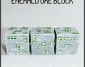 Minecraft Inspired Emerald Ore Block
