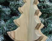 Unfinished Wooden Decorative 3-D Tree